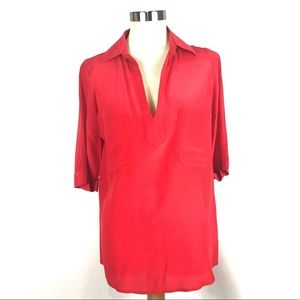 NWOT Rory Beca silk red top blouse XS